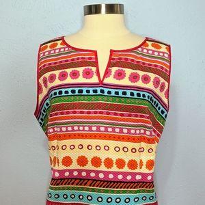 Talbots Woman Fun Colorful Print Dress